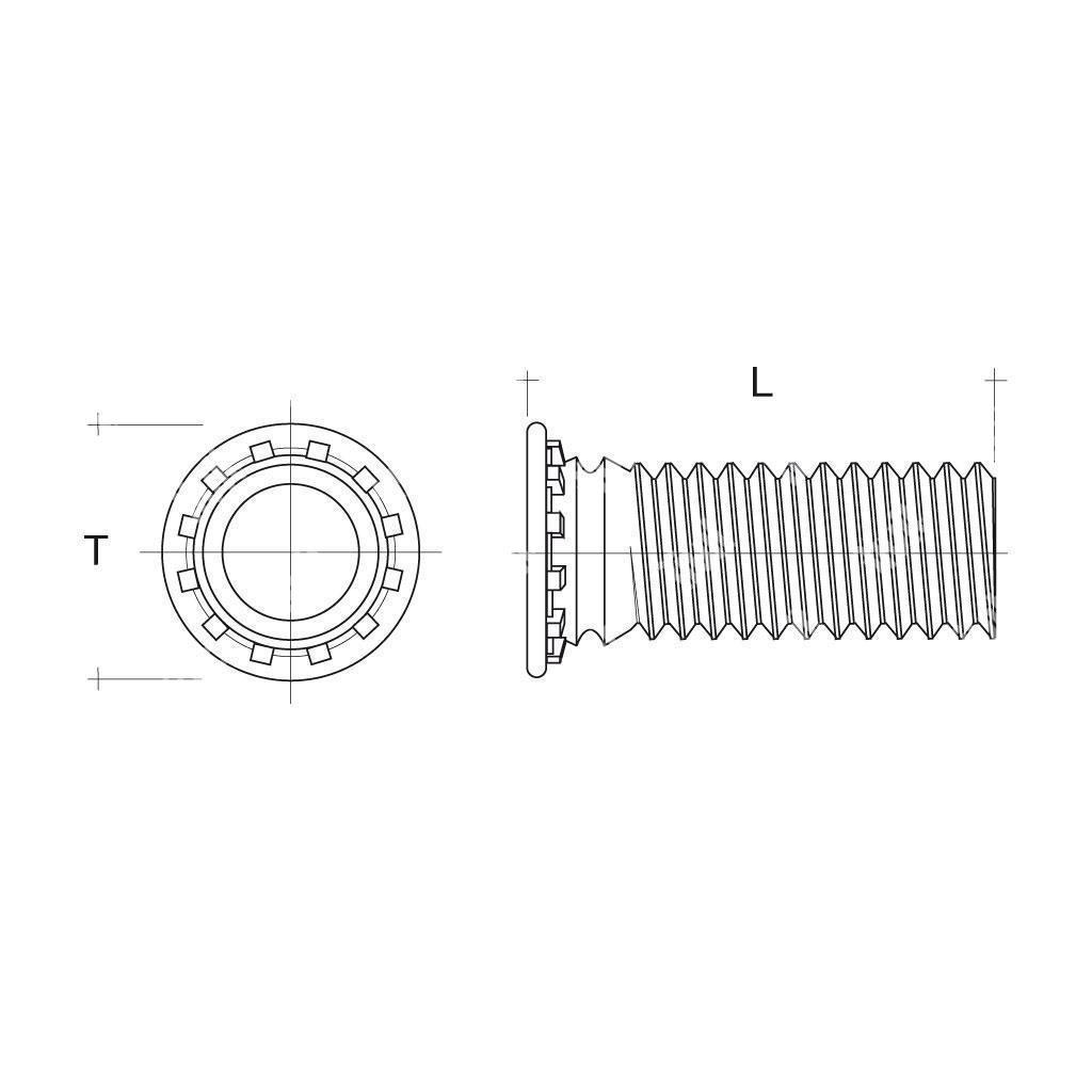 Rfhs4 prigioniero autoagganciante inox serie 400 sistemi for Scatolati in acciaio inox